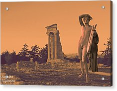 Temple Of Apollo  Acrylic Print by Augusta Stylianou