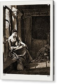 The Chaplain Of The Fleet, Drawn By Charles Green Acrylic Print