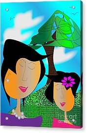 Together Acrylic Print by Iris Gelbart