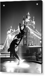 Tower Bridge And Statue Acrylic Print