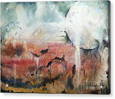 Dreaming Moon Acrylic Print by Amy Williams