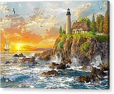 Craggy Cove Acrylic Print by Dominic Davison