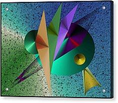 Abstract Bird Of Paradise Acrylic Print