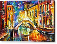 Venice Acrylic Print by Leonid Afremov