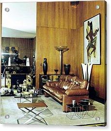Yves Saint Laurent's Living Room Acrylic Print by Horst P. Horst