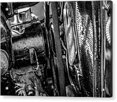 Ford Model A In Black And White Acrylic Print by Steve Knievel