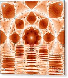 Fantasy Fractal Acrylic Print by Odon Czintos
