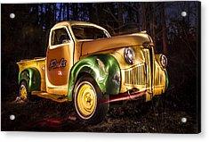 7136 Old Truck Lightpainting Acrylic Print by Deidre Elzer-Lento