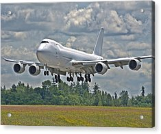 Acrylic Print featuring the photograph 747 Landing by Jeff Cook