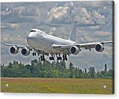 747 Landing Acrylic Print by Jeff Cook