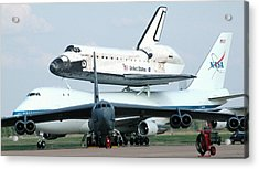 747 Transporting Discovery Space Shuttle Acrylic Print