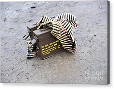 7.62mm Belted Rounds With Ammunition Acrylic Print