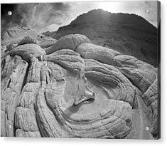7817 High Desert Nude Meditation  Acrylic Print