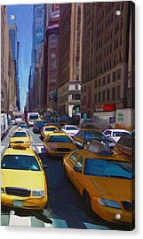 7th Avenue W36th Street Nyc Acrylic Print by Nop Briex