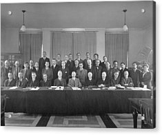 7th Solvay Conference On Chemistry, 1922 Acrylic Print