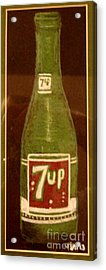 7up Bottle Acrylic Print by Joseph Hawkins