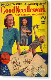 1930s Uk Good Needlework And Knitting Acrylic Print by The Advertising Archives