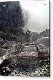 9-11-01 Wtc Terrorist Attack Acrylic Print
