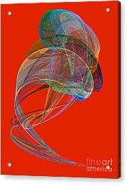 Abstract Futuristic Shape Acrylic Print by Odon Czintos