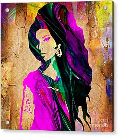 Amy Winehouse Collection Acrylic Print