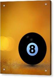 8 Ball Acrylic Print by Bob Orsillo