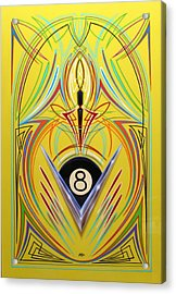 8 Ball Fever Acrylic Print