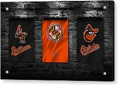 Baltimore Orioles Acrylic Print by Joe Hamilton