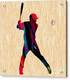 Baseball Acrylic Print by Marvin Blaine