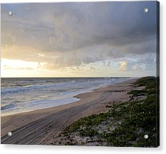Beach Acrylic Print by William Watts