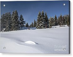 Beautiful Winter Landscape Acrylic Print by IB Photo