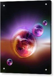 Bubble Universes Acrylic Print by Detlev Van Ravenswaay