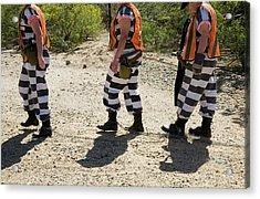 Chain Gang Acrylic Print by Jim West