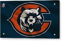 Chicago Bears Uniform Acrylic Print by Joe Hamilton