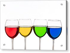 Colorful Wine Glasses Acrylic Print