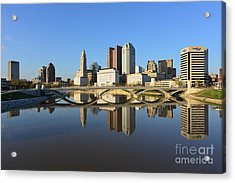 Fx1l-1058 Columbus Ohio Skyline Photo Acrylic Print