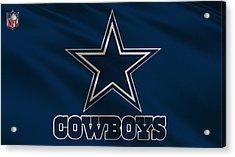 Dallas Cowboys Uniform Acrylic Print by Joe Hamilton
