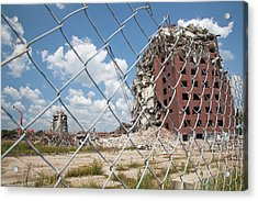 Demolition Of Detroit Housing Towers Acrylic Print by Jim West