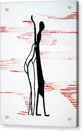 Dinka Lady - South Sudan Acrylic Print