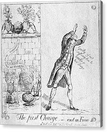 Edmund Burke (1729-1797) Acrylic Print by Granger
