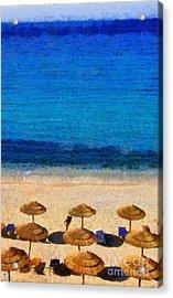 Elia Beach Acrylic Print by George Atsametakis