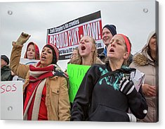 Flint Drinking Water Protest Acrylic Print by Jim West