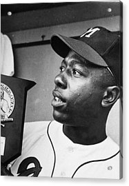 Hank Aaron Acrylic Print by Retro Images Archive