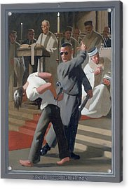 8. Jesus Before The Priests / From The Passion Of Christ - A Gay Vision Acrylic Print by Douglas Blanchard