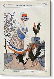 La Vie Parisienne  1916 1910s France Cc Acrylic Print