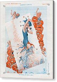 La Vie Parisienne 1930 1930s France Cc Acrylic Print by The Advertising Archives