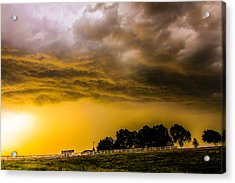 Acrylic Print featuring the photograph Late Afternoon Nebraska Thunderstorms by NebraskaSC