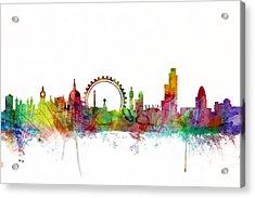 London England Skyline Acrylic Print by Michael Tompsett
