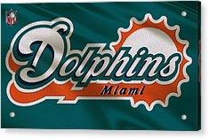 Miami Dolphins Uniform Acrylic Print by Joe Hamilton
