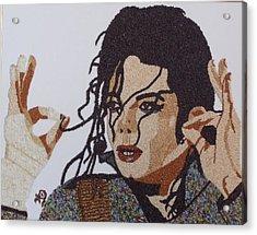 Michael Jackson Acrylic Print by Kovats Daniela