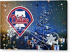 Philadelphia Phillies Acrylic Print by Joe Hamilton